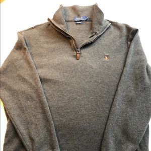 Polo Ralph Lauren Estate Rib 1/4 Zip Sweater Euc